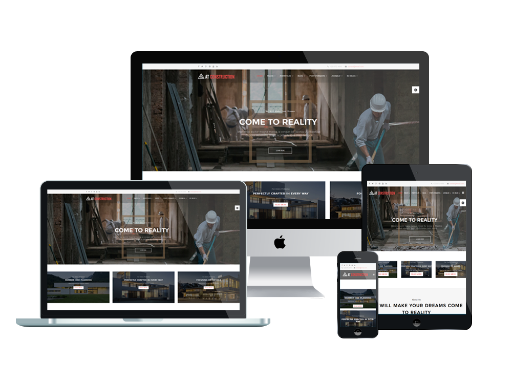 AT Construction Free Joomla! template