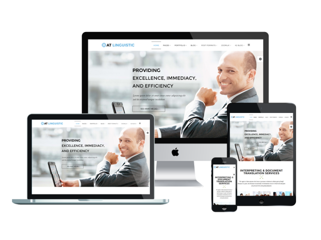 AT Linguistic Free Joomla! template