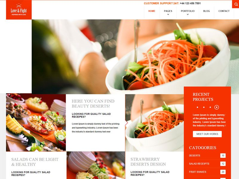 Love and Fight Restaurant Responsive Web Template