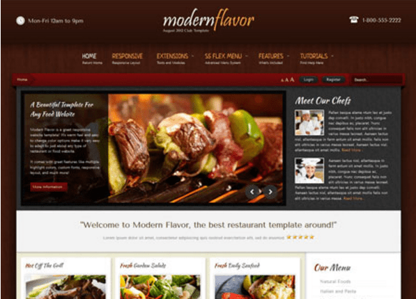 Best WordPress Restaurant Themes In December Freemium Download - Restaurant template wordpress