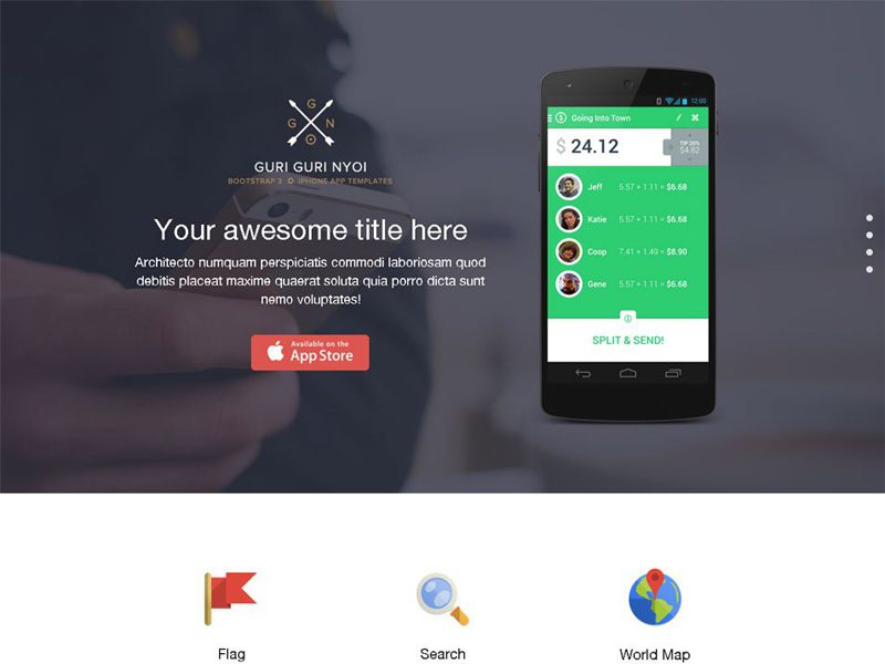 13 best app landing page bootstrap templates in 2016 freemium download cssauthor app landing free bootstrap design template maxwellsz