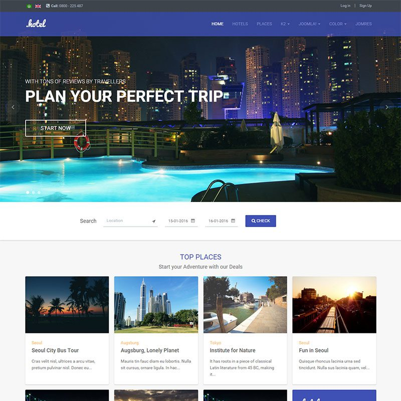 20 best joomla hotel templates in january 2016 freemium for Joomla hotel template