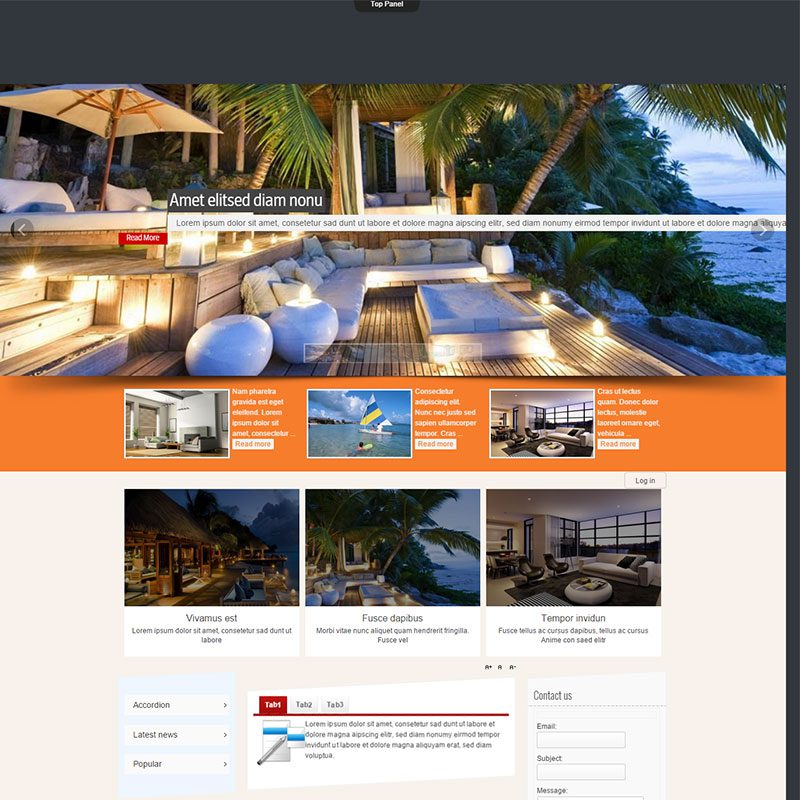 how to create a website in joomla with example