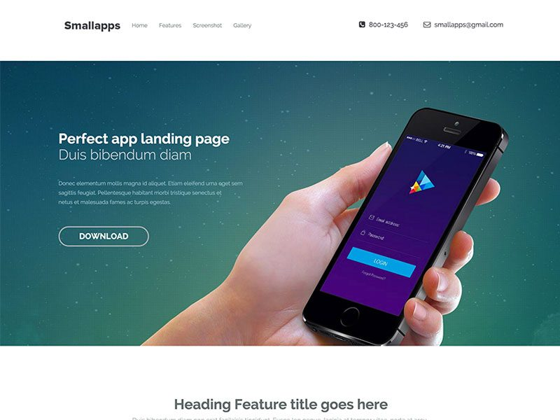 Small-App-Bootstrap-3-App-Landing-Page-Template