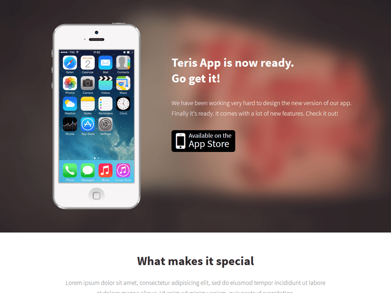 Teris-Bootstrap-iPhone-App-Landing-Page