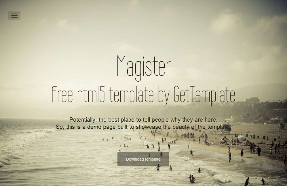 Magister - Responsive single-page template