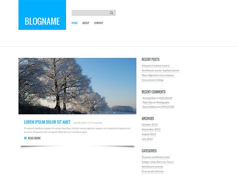 Personal Blog Flat Bootstrap Responsive Web Template