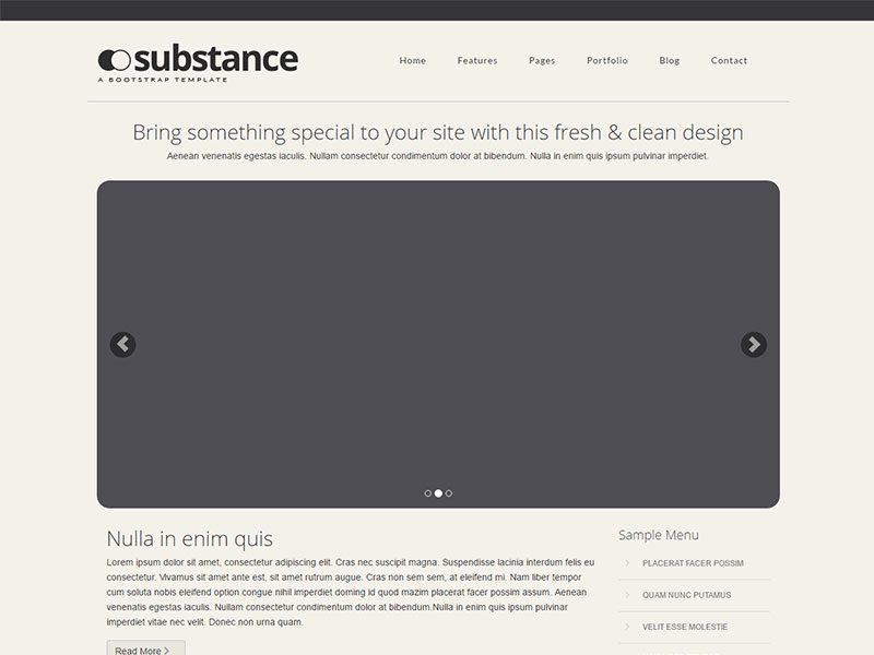 Substance Free Bootstrap Theme