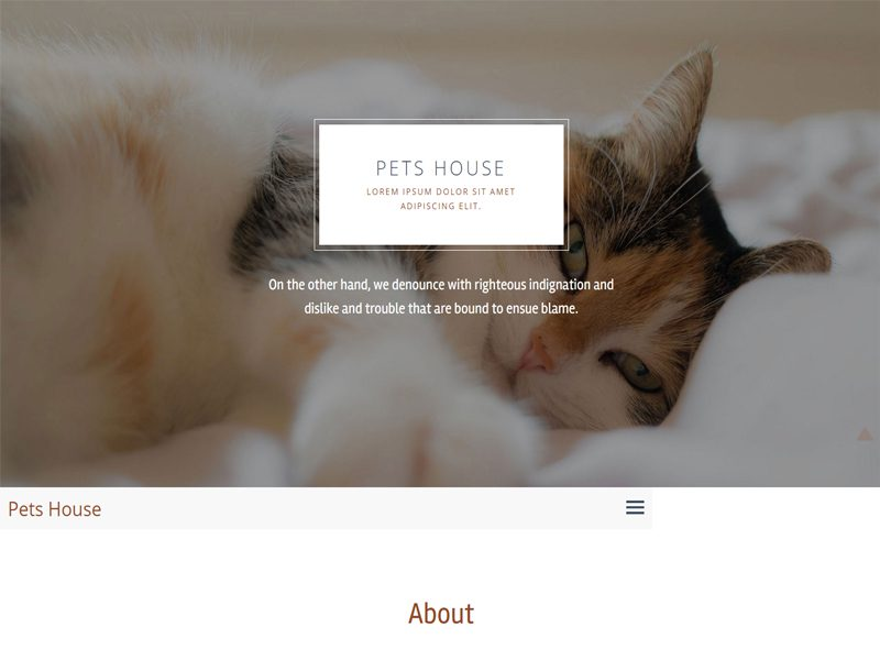 Pets House Free Bootstrap Template For Animal
