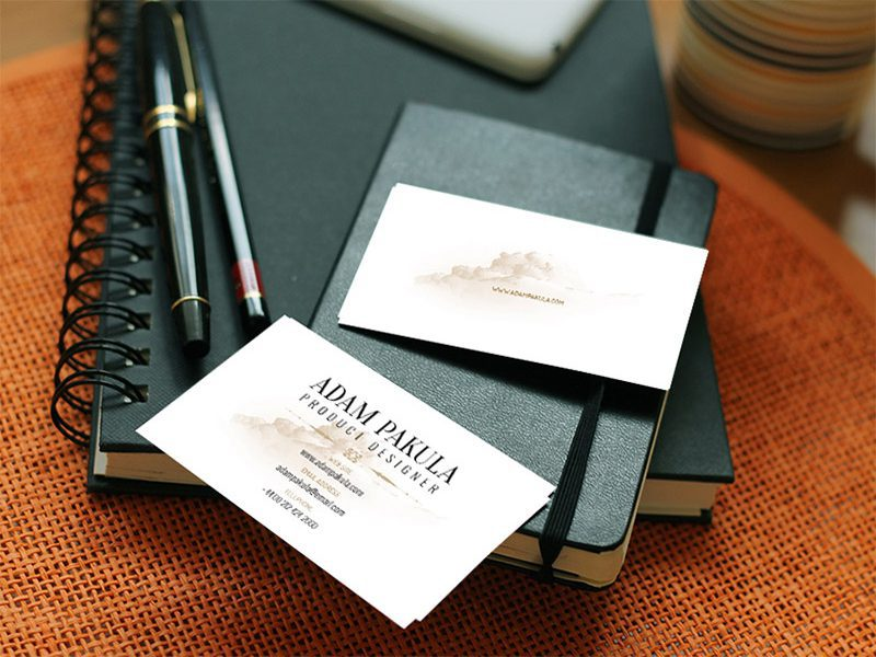 Business Cards Free Script Mockup
