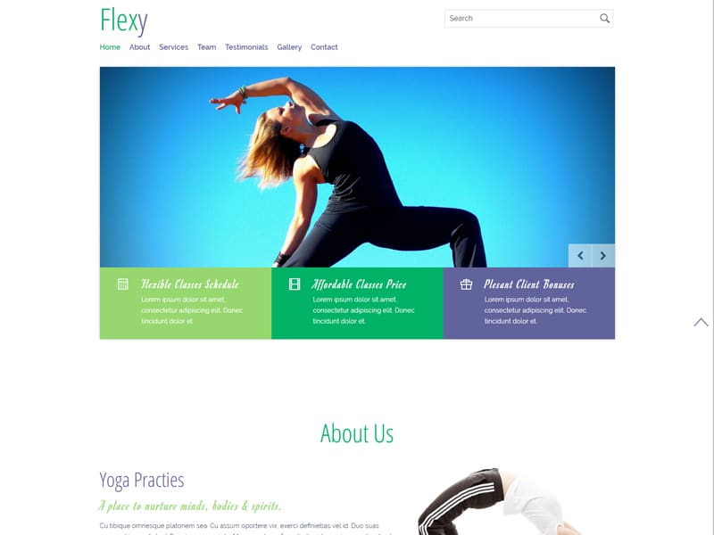 Flexy Free Responsive Sports Bootstrap Template