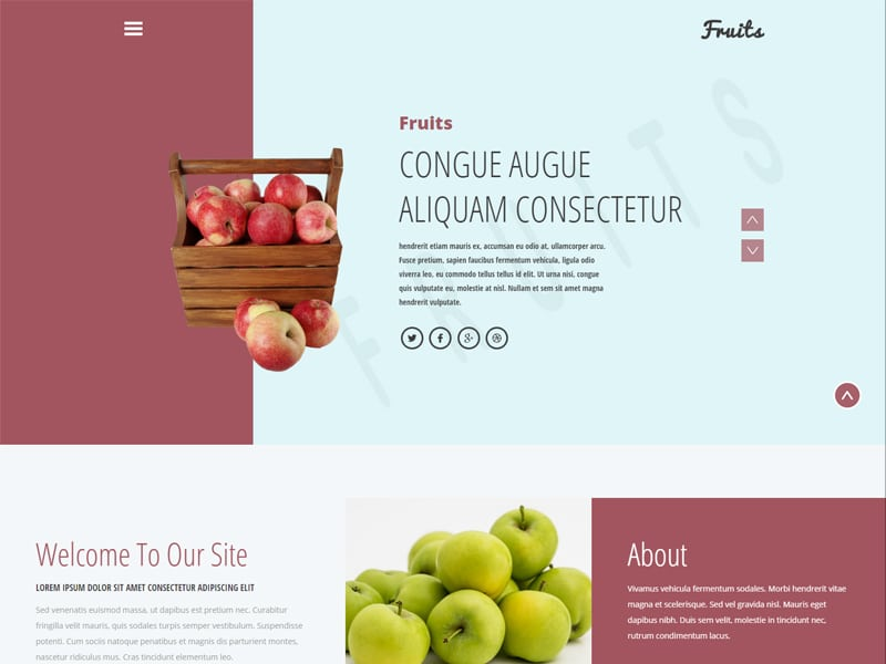 Fruits Free Bootstrap Agriculture Template