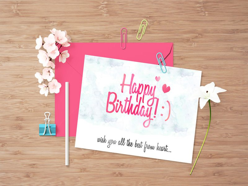 Greeting Card Free Download Mock-up