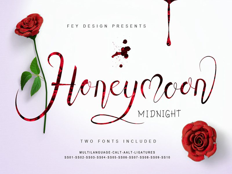 Honey Moon Midnight Free Font Download