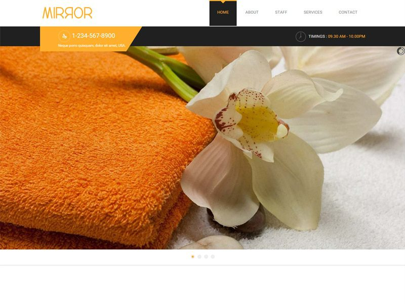Mirror Free Bootstrap Template For Beauty