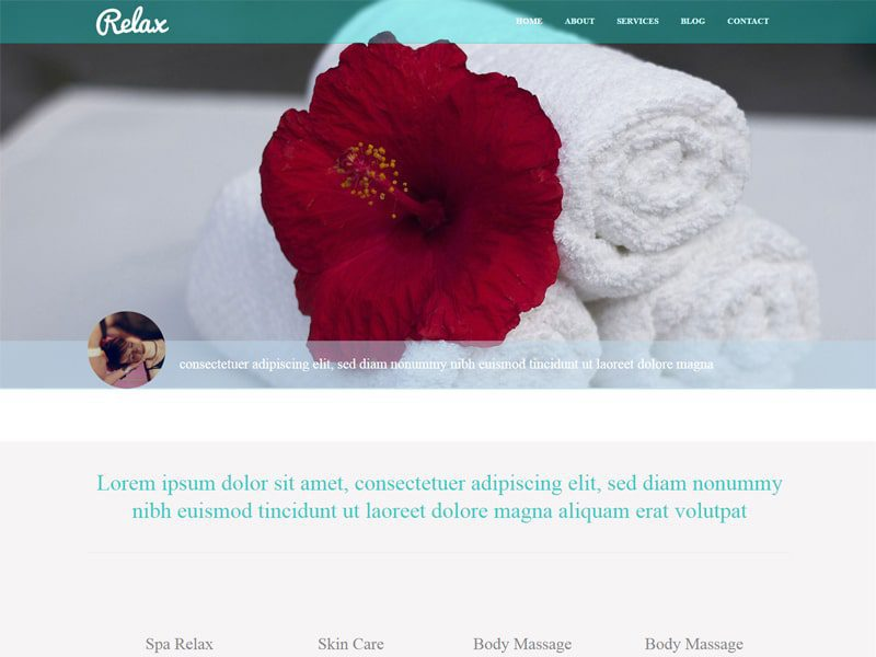 Relax Free Responsive Bootstrap Template For Beauty
