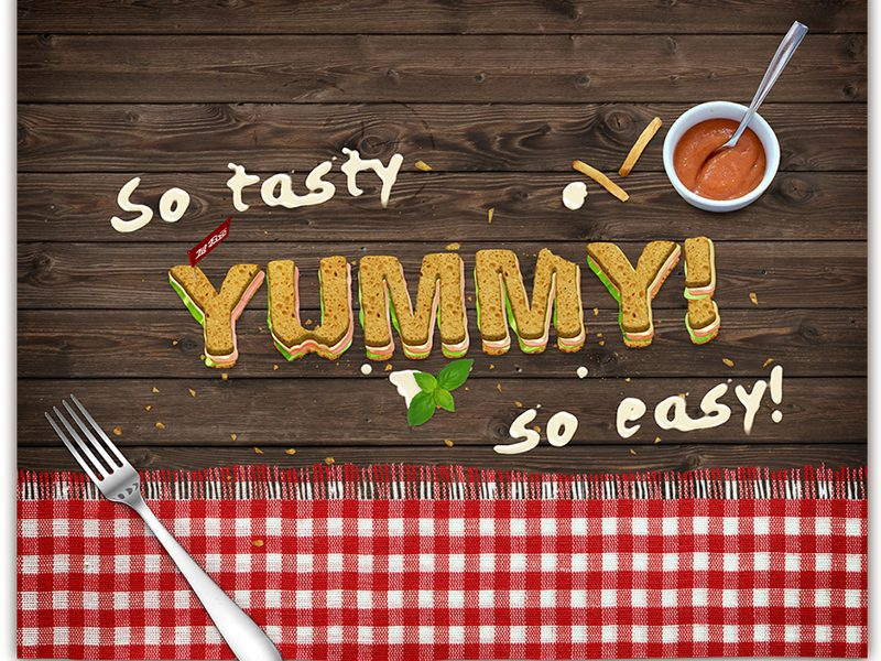 Free – Sandwich Text Mock-Up