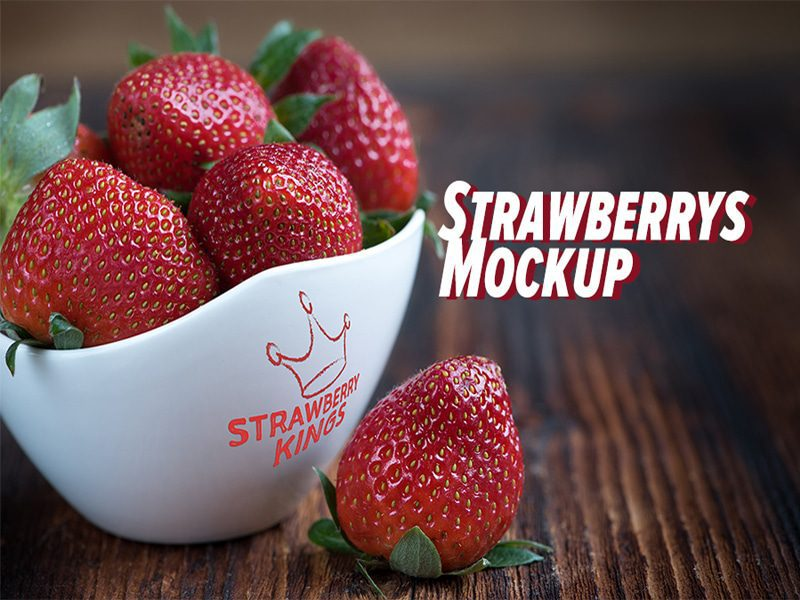 Strawberry's Free Mockup Download