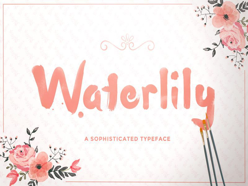Waterlily Free Font For Language