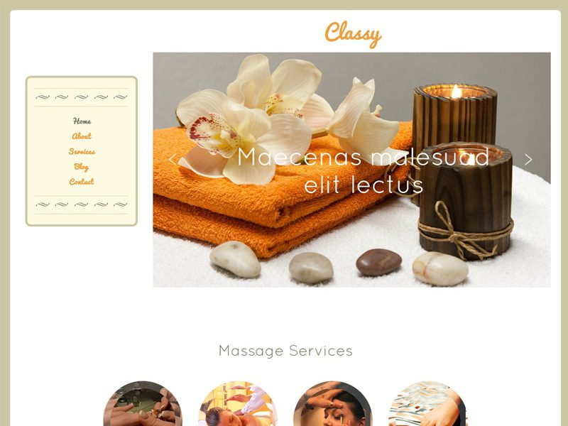 Classy Free Bootstrap Template For Beauty