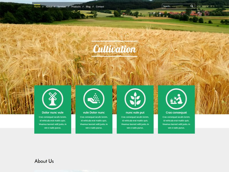 Cultivation Free Bootstrap Template For Agriculture Business