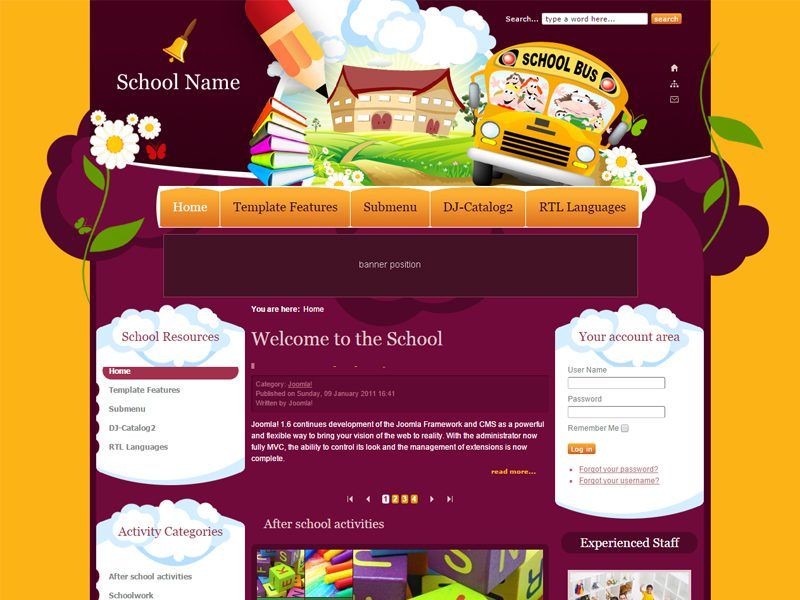 6 best free joomla education templates in may 2016 freemium download dj education free joomla template for education maxwellsz