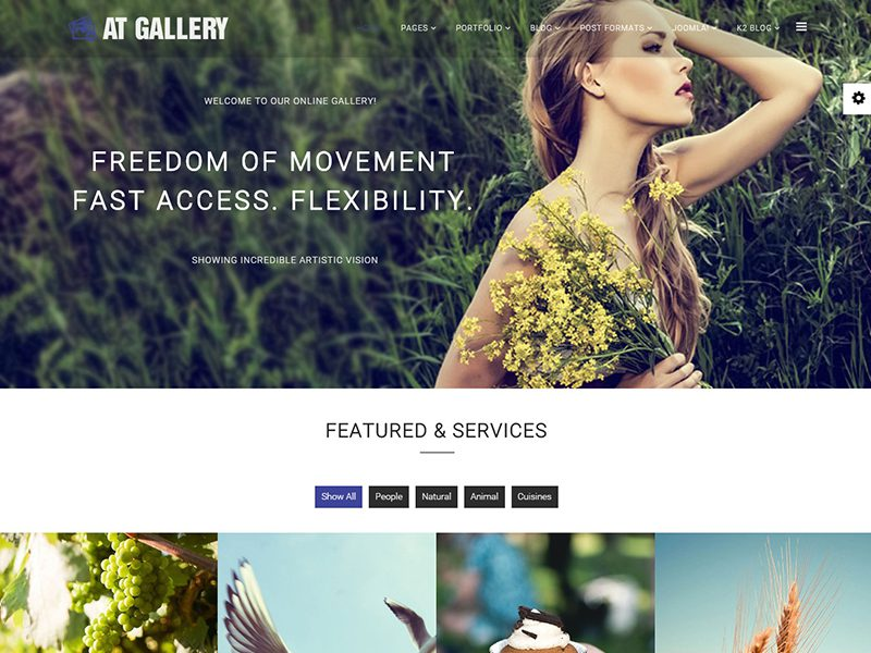AT Gallery Onepage Joomla Template For Photography