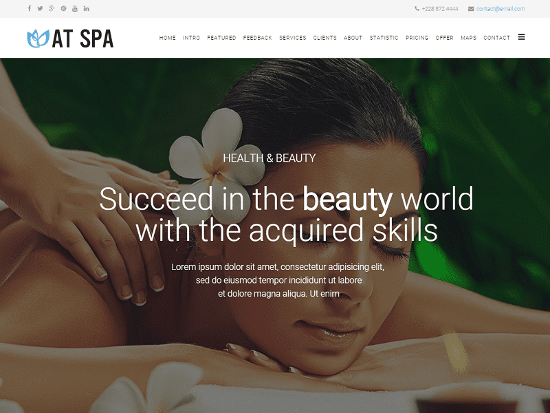 AT Spa – Free Template Joomla For Massage / Spa