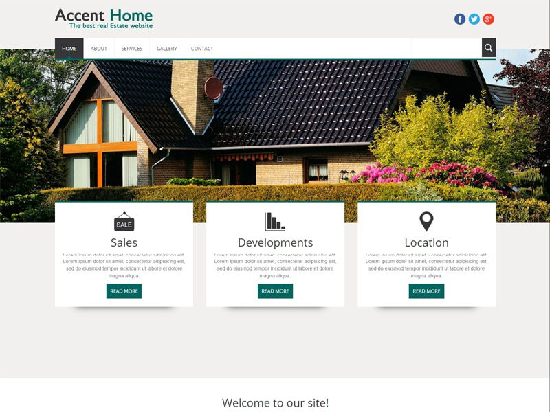 Accent Home Fress Responsive Bootstrap Real Estate Template