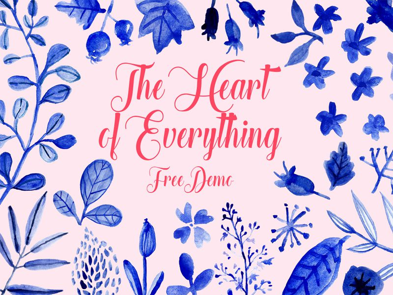 Heart Of Everything Free Font Design