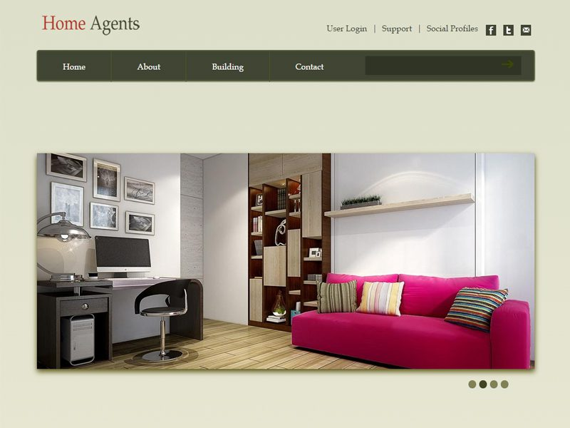 Home Agents Free Bootstrap Template For Real Estate