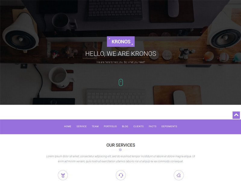 Kronos Free Responsive Corporate Business Bootstrap Template