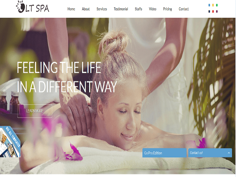 LT Spa – Free One Page Spa Joomla Template