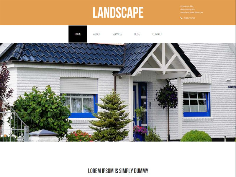 Landscape Free Bootstrap Template For Real Estate