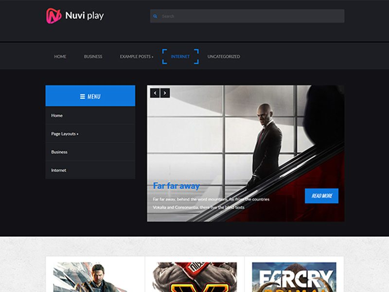 NuviPlay Free WordPress Theme For Business