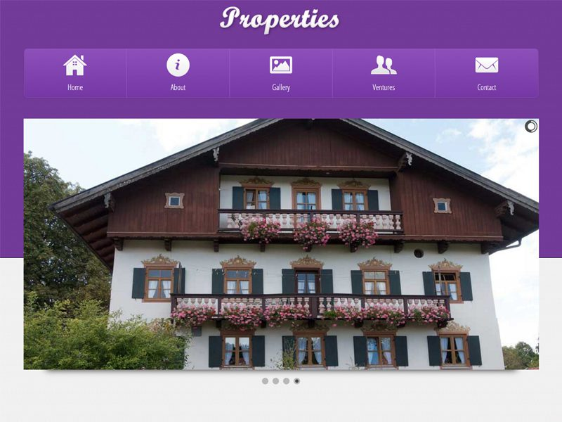 Properties Free Bootstrap Template For Real Estate