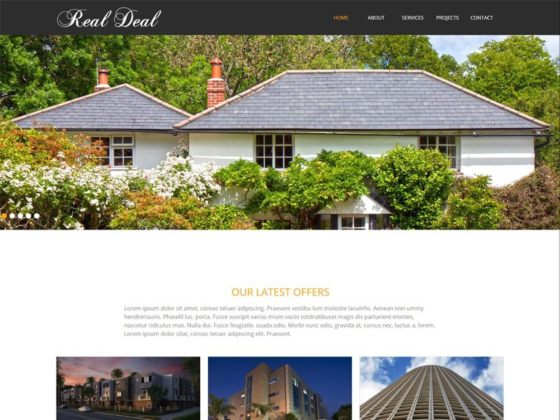 Real Deal Free Responsive Real Estate Bootstrap Template
