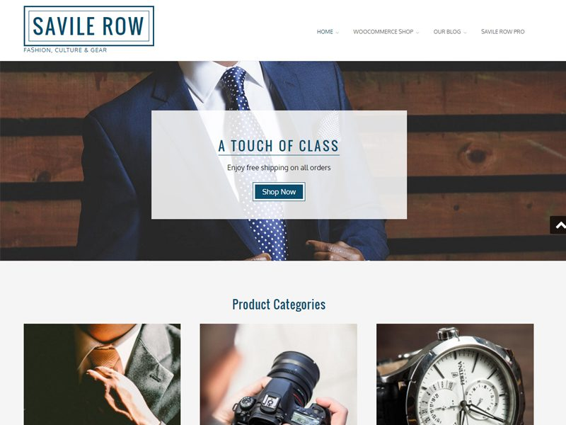 Top 15 best free responsive business wordpress themes in 2016 savile row free wordpress business template accmission Image collections