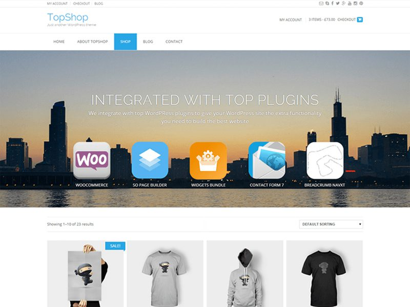 TopShop Free WordPress Theme For Business