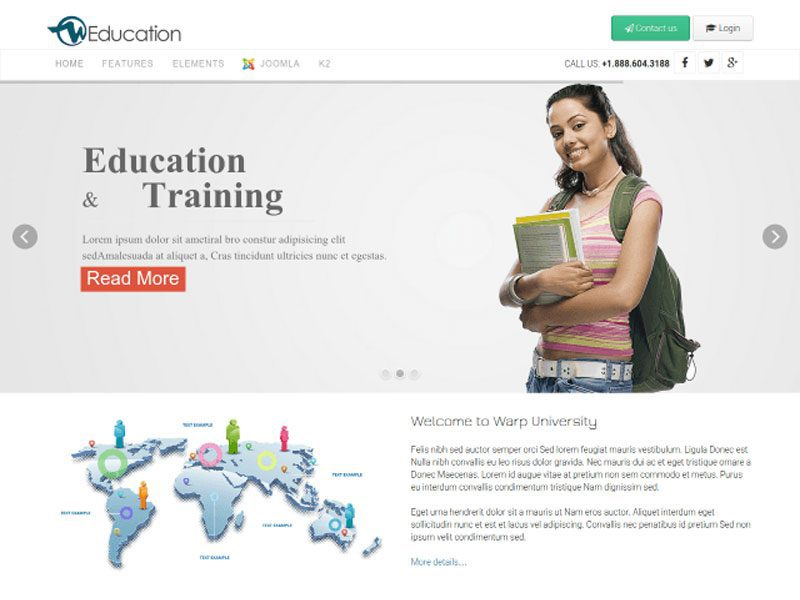 WT Education – Responsive Education Joomla template