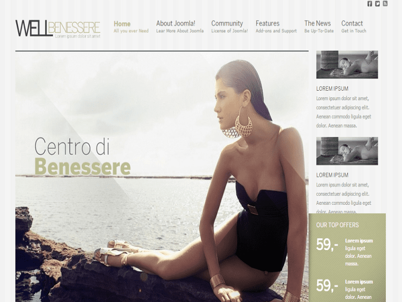 Well Benessere – Joomla 1.0 Template Spa Free