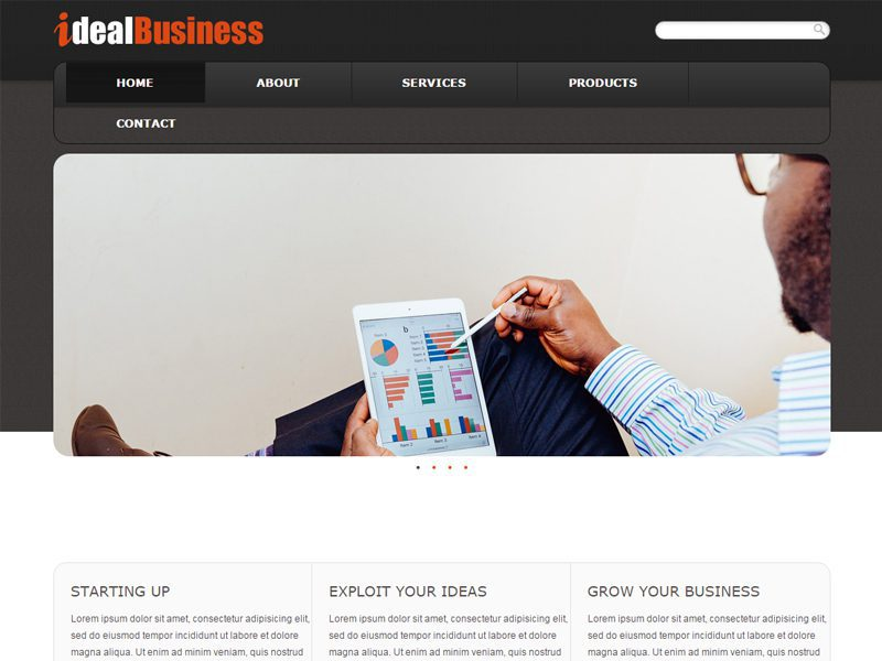 Ideal Business Free Bootstrap Template For Business