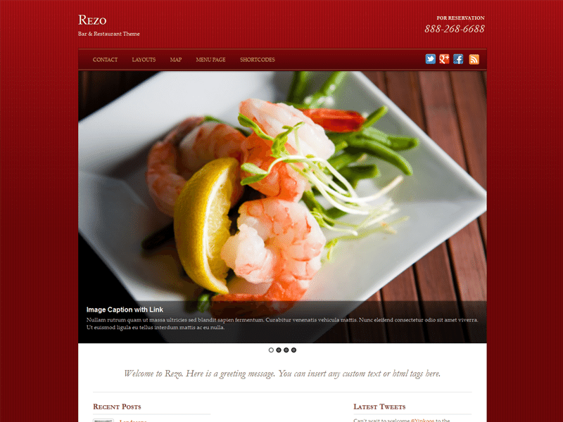 Rezo Bar & Restaurant WordPress Theme