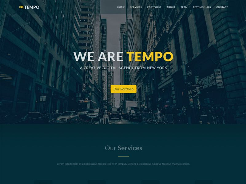 Tempo Responsive Bootstrap Template For Business