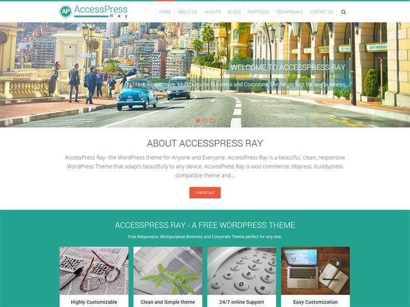 AccessPress Ray Travel / Photography Free WordPress Theme