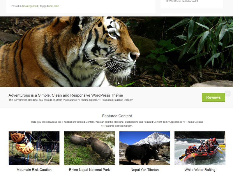 Adventurous Free Photography WordPress Theme