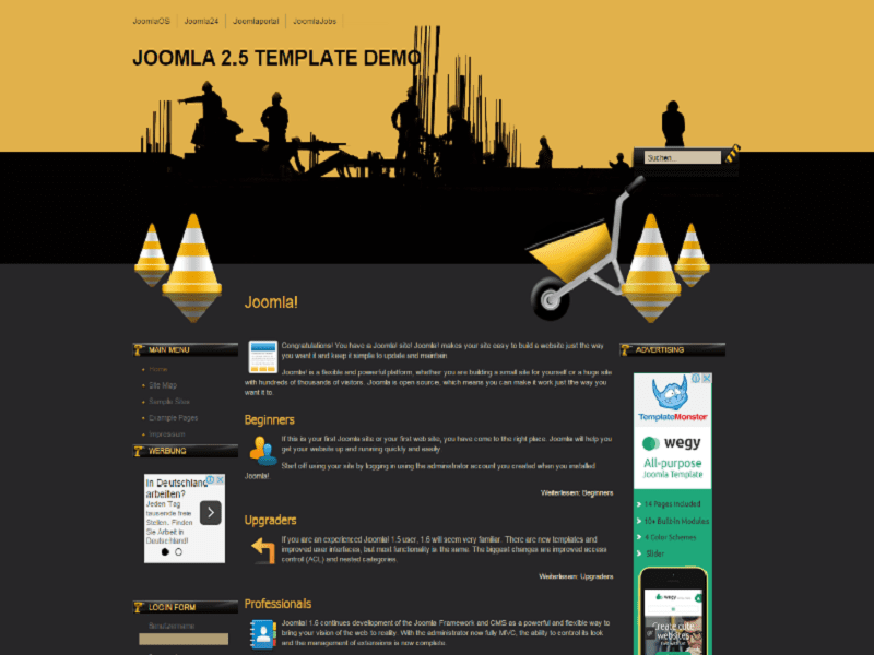 Construction Work – Free Joomla Template Construction Company