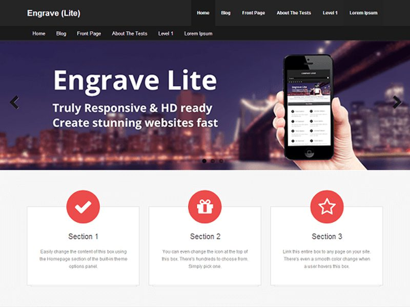 Engrave Lite Free Blog WordPress Theme