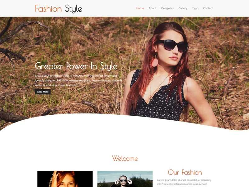 Fashion Style Free Responsive Fashion Bootstrap Template