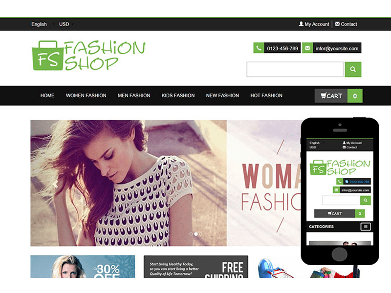 FashionShop – Free Fashion Bootstrap Template